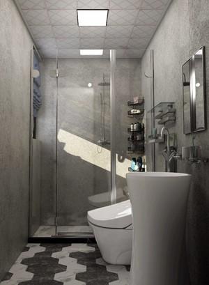 60平米房子混搭風格淋浴隔斷裝修效果圖