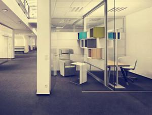 243平米公司辦公室玄關隔斷裝修效果圖