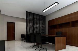 230平米公司辦公室玄關隔斷裝修效果圖