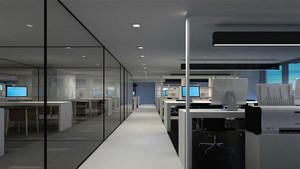 200平米公司辦公室玄關隔斷裝修效果圖