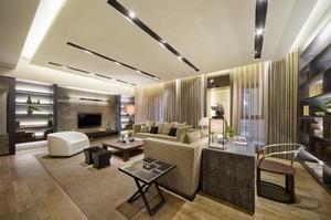 160平米大戶型簡歐風格長方形房屋裝修效果圖