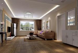 154平米大戶型簡歐風格長方形房屋裝修效果圖