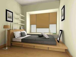 12平米卧室硅藻泥榻榻米装修效果图