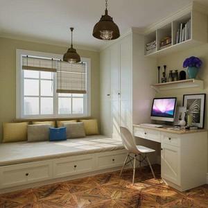3平米臥室飄窗榻榻米床裝修效果圖