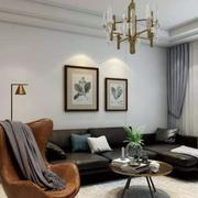 客廳現代背景墻100平米裝修