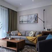 客廳現代背景墻90平米裝修