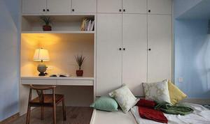 歐式榻榻米床臥室美式復古裝修效果圖