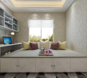 80平米小户型卧室灰色榻榻米装修效果图