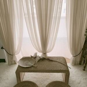 4平米美式阳台窗帘图片