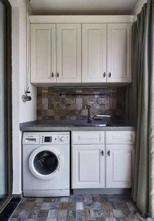3平米陽臺洗衣機柜圖片