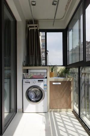 4平米陽臺洗衣機柜圖片