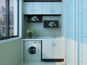 7平米陽臺洗衣機柜圖片