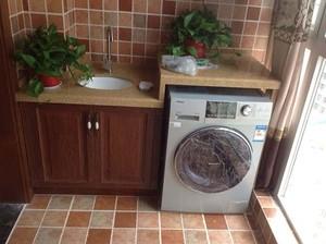 9平米陽臺洗衣機柜圖片