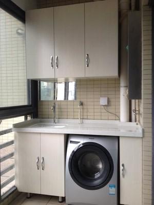 10平米陽臺洗衣機柜圖片