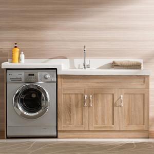 12平米陽臺洗衣機柜圖片
