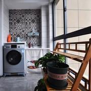陽臺簡約瓷磚110平米裝修