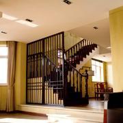 客廳中式走廊復式裝修