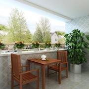 陽臺簡約瓷磚120平米裝修