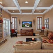 客廳簡歐燈具復式裝修