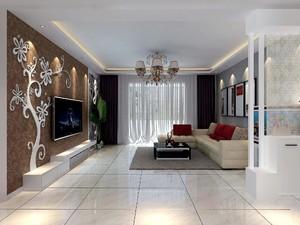 89平米房子中式风格客厅灯带吊顶装修效果图