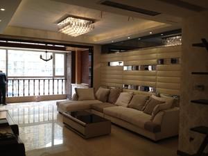 150平米別墅日式風格客廳燈帶吊頂裝修效果圖
