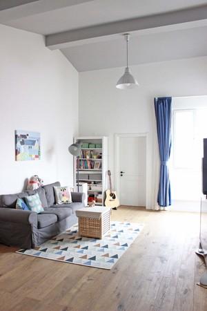 120平米躍層日式風格客廳吊頂燈具裝修效果圖