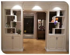 120平米现代风格两居室客厅阳台隔断柜装修效果图