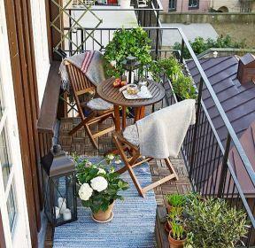 9平米长方形阳台花园装修效果图