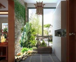 中式風格小戶型陽臺花園裝修效果圖