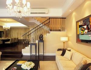 120平復式樓美式風格裝修效果圖