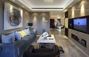 140平復式樓現代奢華風格裝修效果圖
