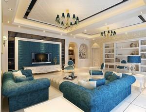 140平復式樓簡約歐式風格裝修效果圖