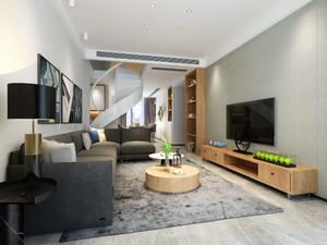 150平復式樓現代風格裝修效果圖