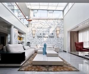160平復式樓現代簡歐風格裝修效果圖