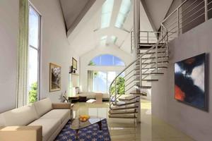 160平復式樓現代港式風格裝修效果圖