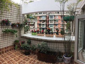4平美式风格阳台小花园装修效果图