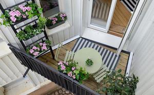 3平米高樓層陽臺花園裝修效果圖