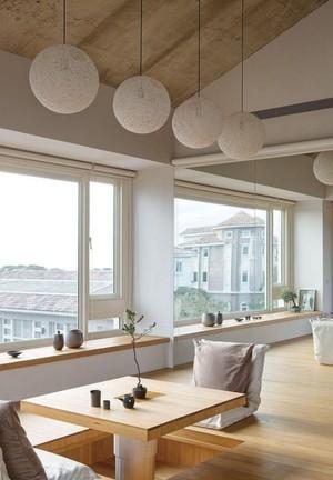 130平米公寓現代日式正方形陽臺花園裝修效果圖