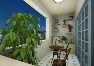 9平米地中海阳台花园装修效果图