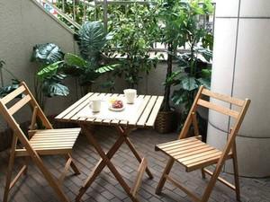 8平米中式陽臺小花園裝修效果圖