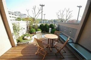 10平米中式陽臺小花園裝修效果圖