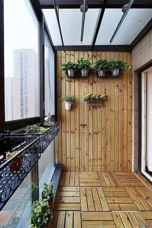 5平米防腐木陽臺花園裝修效果圖