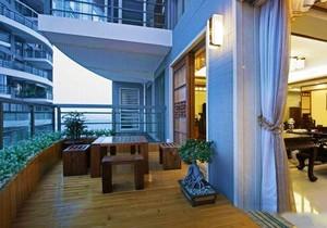 9平米新中式阳台花园装修效果图