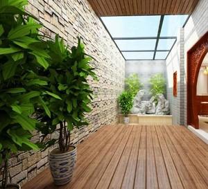 12平米新中式陽臺花園裝修效果圖