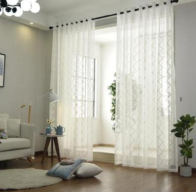 100平米躍層歐式客廳陽臺窗簾裝修效果圖