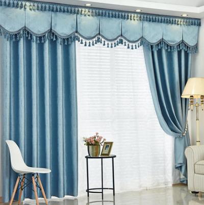 300平米歐式客廳陽臺窗簾裝修效果圖