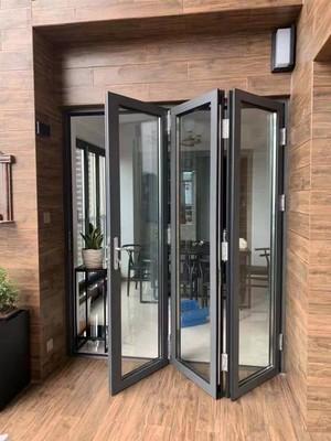 80平米簡約陽臺玻璃推拉門折疊門效果圖