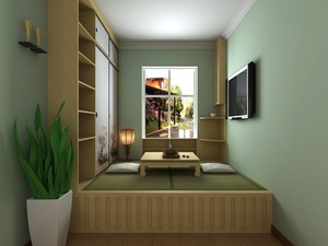 80平方小別墅中式榻榻米房間裝修效果圖
