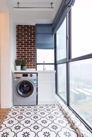 小戶型現代客廳陽臺地板磚效果圖