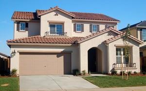 550平簡歐風格尖頂房屋外觀效果圖